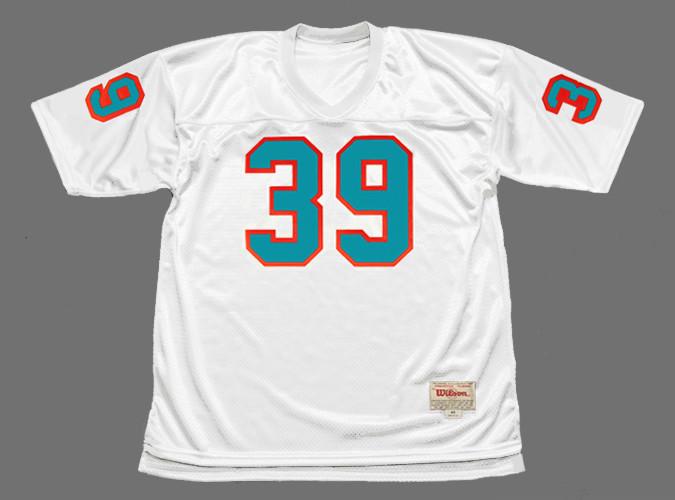 LARRY CSONKA Miami Dolphins 1972 Throwback NFL Football Jersey