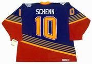 BRAYDEN SCHENN St. Louis Blues 1990's CCM NHL Vintage Throwback Jersey - BACK
