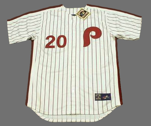 MIKE SCHMIDT Philadelphia Phillies 1980 Majestic Cooperstown Throwback Home Baseball Jersey - Front