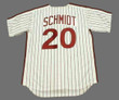 MIKE SCHMIDT Philadelphia Phillies 1980 Majestic Cooperstown Throwback Home Baseball Jersey - Back