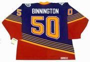 JORDAN BINNINGTON St. Louis Blues 1990's CCM NHL Vintage Throwback Jersey - BACK