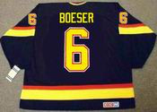 BROCK BOESER Vancouver Canucks 1990's CCM NHL Vintage Throwback Jersey - BACK