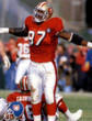 BRYANT YOUNG San Francisco 49ers 1994 Throwback Home NFL Football Jersey - ACTION