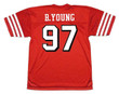 BRYANT YOUNG San Francisco 49ers 1994 Throwback Home NFL Football Jersey - BACK