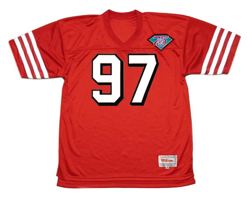 BRYANT YOUNG San Francisco 49ers 1994 Throwback Home NFL Football Jersey - FRONT