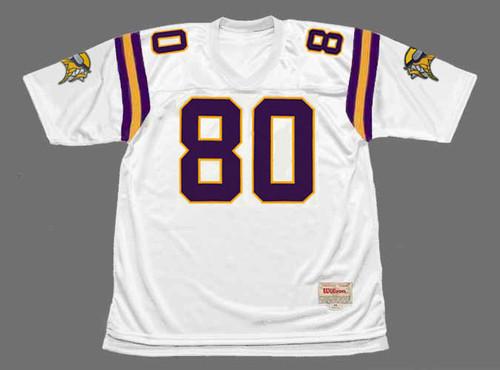CRIS CARTER Minnesota Vikings 1998 Away Throwback NFL Football Jersey - FRONT