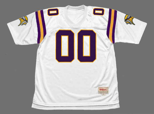 """MINNESOTA VIKINGS 1990's Throwback Away NFL Jersey Customized """"Any Name & Number(s)"""" - FRONT"""