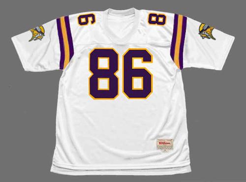 JAKE REED Minnesota Vikings 1996 Away Throwback NFL Football Jersey - FRONT