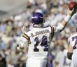 BRAD JOHNSON Minnesota Vikings 1997 Away Throwback NFL Football Jersey - ACTION