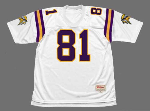 NATE BURLESON Minnesota Vikings 2004 Away Throwback NFL Football Jersey - FRONT