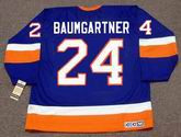 KEN BAUMGARTNER New York Islanders 1991 CCM Vintage Throwback NHL Hockey Jersey - BACK