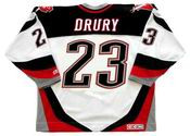 CHRIS DRURY 2005 Away CCM Vintage NHL Buffalo Sabres Hockey Jersey - BACK