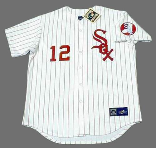 AJ PIERZYNSKI Chicago White Sox 1970's Majestic Throwback Baseball Jersey - FRONT