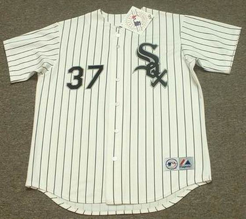 BOBBY THIGPEN Chicago White Sox 1991 Majestic Throwback Home Baseball Jersey - FRONT