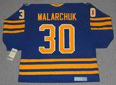 CLINT MALARCHUK Buffalo Sabres 1990 Away CCM Throwback NHL Hockey Jersey - BACK