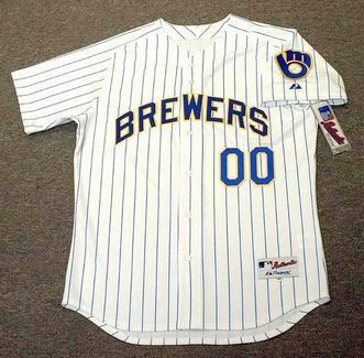 best service 440f8 c67c1 MILWAUKEE BREWERS Majestic Authentic Home Jersey Customized