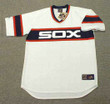 JIM THOME Chicago White Sox 1980's Majestic Throwback Baseball Jersey - FRONT