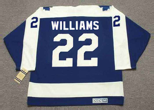TIGER WILLIAMS Toronto Maple Leafs 1975 CCM Vintage Throwback NHL Hockey Jersey - BACK