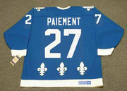 WILF PAIEMENT Quebec Nordiques 1984 Away CCM Throwback NHL Hockey Jersey - BACK