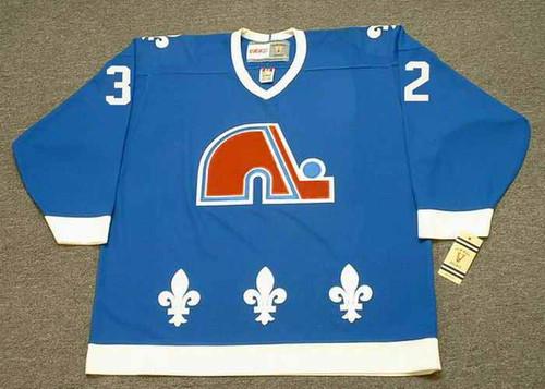 LUCIEN DEBLOIS Quebec Nordiques 1989 Away CCM Throwback NHL Hockey Jersey - FRONT