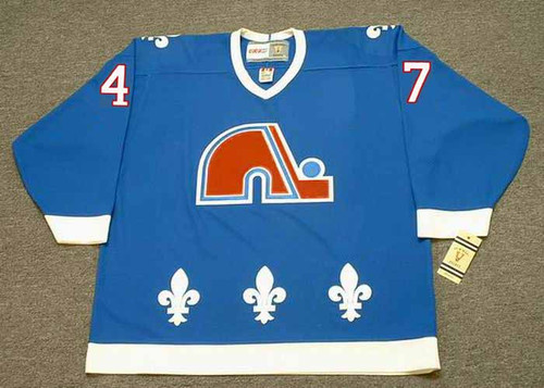 CLAUDE LAPOINTE Quebec Nordiques 1993 Away CCM Throwback NHL Hockey Jersey - FRONT