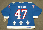 CLAUDE LAPOINTE Quebec Nordiques 1993 Away CCM Throwback NHL Hockey Jersey - BACK