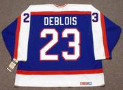 LUCIEN DEBLOIS Winnipeg Jets 1983 Away CCM Throwback NHL Hockey Jersey - BACK