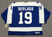 BILL DERLAGO Toronto Maple Leafs 1983 Away CCM Throwback NHL Hockey Jersey - BACK