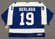 BILL DERLAGO Toronto Maple Leafs 1983 Away CCM Throwback NHL Hockey Jersey - BACK