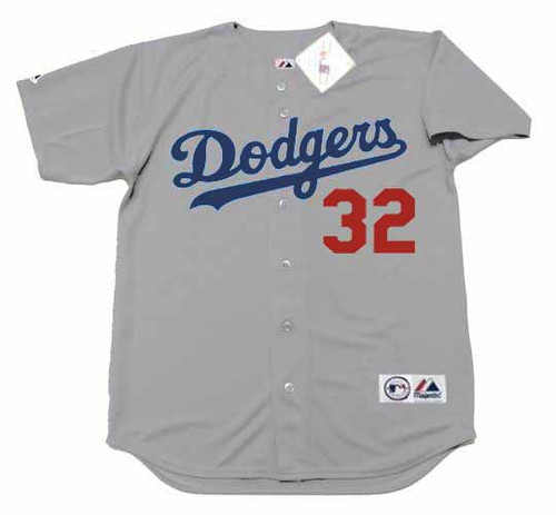 SANDY KOUFAX Los Angeles Dodgers 1973 Away Majestic Throwback Baseball Jersey - FRONT