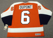 ANDRE DUPONT Philadelphia Flyers 1974 CCM Vintage Throwback Away NHL Jersey