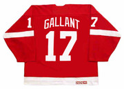 GERARD GALLANT Detroit Red Wings 1988 Away CCM Throwback NHL Hockey Jersey - BACK