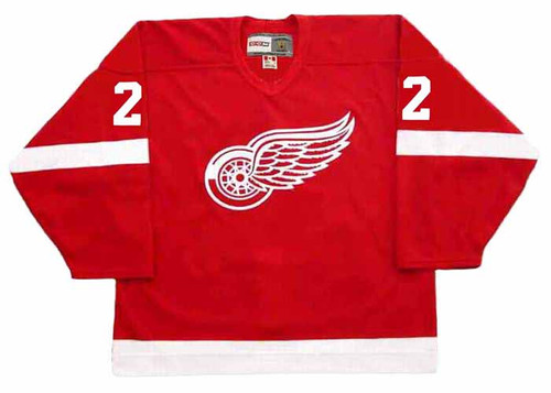 BRAD PARK Detroit Red Wings 1983 Away CCM Throwback NHL Hockey Jersey - FRONT