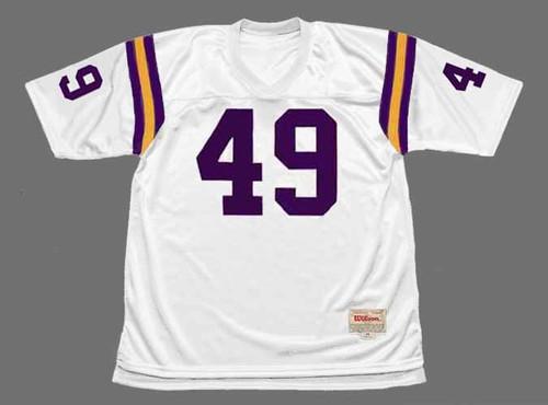 ED MARINARO Minnesota Vikings 1975 Away Throwback NFL Football Jersey - FRONT