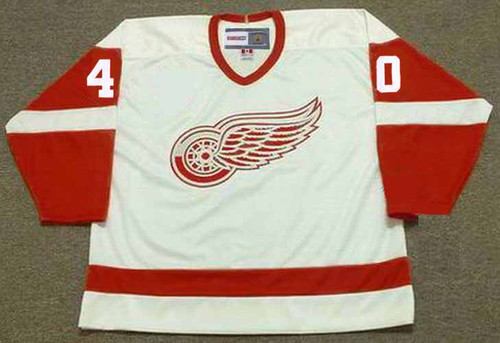 HENRIK ZETTERBERG Detroit Red Wings 2002 Home CCM Throwback NHL Hockey Jersey - FRONT