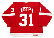 CURTIS JOSEPH Detroit Red Wings 2002 Away CCM Throwback NHL Hockey Jersey - BACK