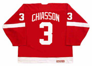 STEVE CHIASSON Detroit Red Wings 1993 Away CCM Throwback NHL Hockey Jersey - BACK