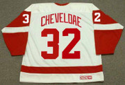 TIM CHEVELDAE Detroit Red Wings 1992 Home CCM Throwback NHL Hockey Jersey - BACK