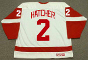 DERIAN HATCHER Detroit Red Wings 2003 Home CCM Throwback NHL Hockey Jersey - BACK