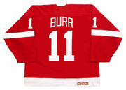 SHAWN BURR Detroit Red Wings 1985 Away CCM Throwback NHL Hockey Jersey - BACK