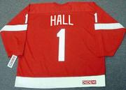 GLENN HALL Detroit Red Wings 1950's Home CCM Throwback NHL Hockey Jersey - BACK