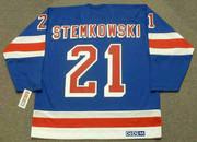 PETE STEMKOWSKI New York Rangers 1972 Away CCM Throwback NHL Hockey Jersey - BACK