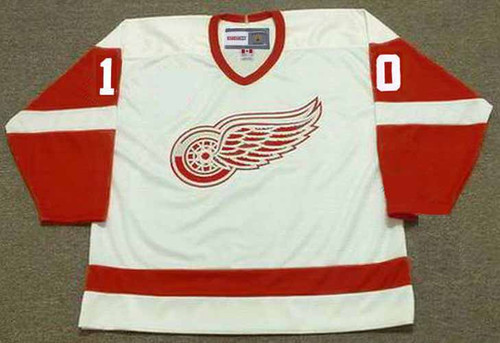JIMMY CARSON Detroit Red Wings 1990 Home CCM Throwback NHL Hockey Jersey - FRONT