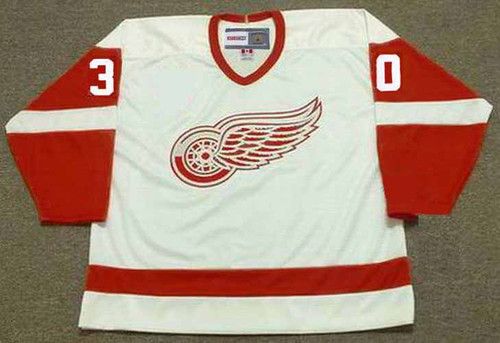 1995 CCM Detroit Home Throwback CHRIS OSGOOD Red Wings Hockey Jersey - FRONT