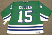JOHN CULLEN Hartford Whalers 1991 Away CCM Throwback NHL Hockey Jersey - BACK