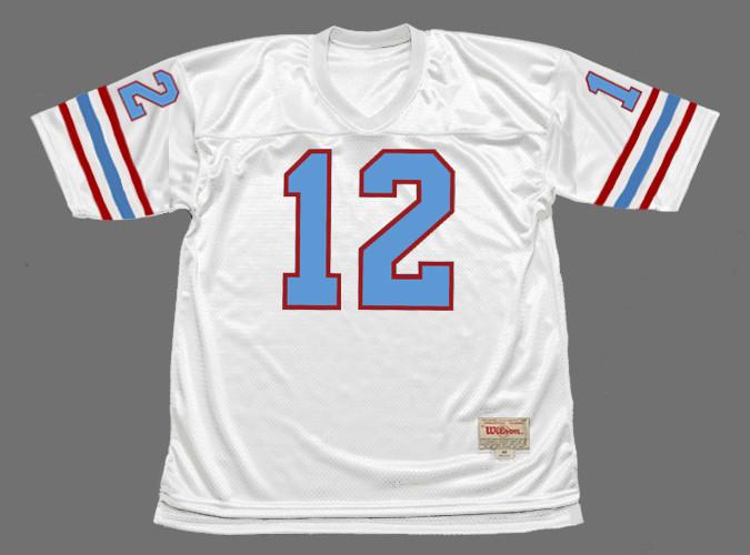KEN STABLER Houston Oilers 1981 Throwback NFL Football Jersey