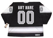 LOS ANGELES KINGS 1980's Away CCM Vintage Customized Jersey - BACK