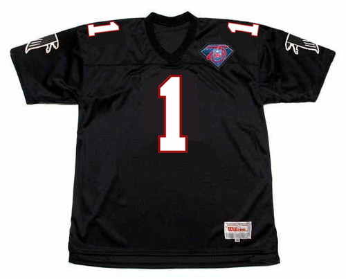 JEFF GEORGE Atlanta Falcons 1994 Home Throwback NFL Football Jersey - FRONT