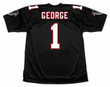 JEFF GEORGE Atlanta Falcons 1994 Home Throwback NFL Football Jersey - BACK