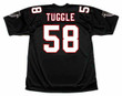 JESSIE TUGGLE Atlanta Falcons 1994 Home Throwback NFL Football Jersey - BACK